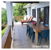 Outside view of Grand Villa